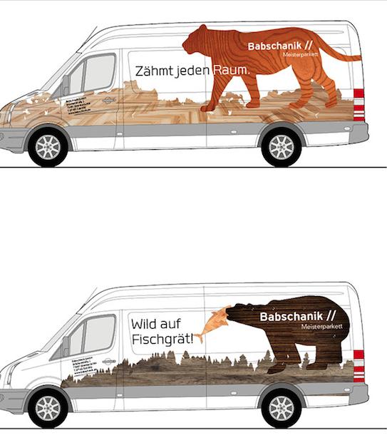 BABSCHANIK MEISTERPARKETT - Headlines Fahrzeug-Gestaltung