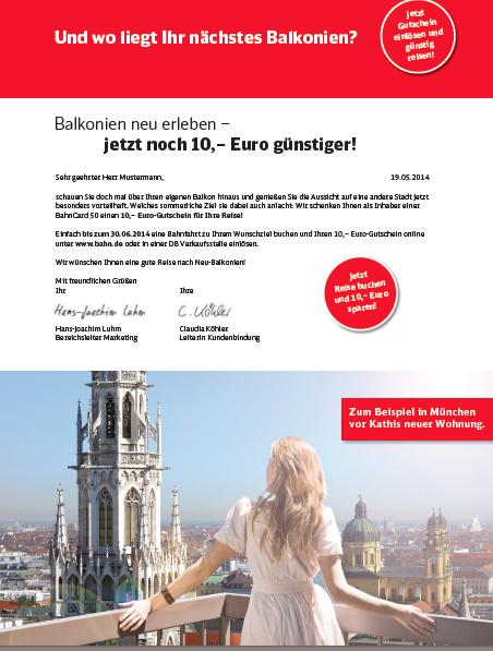 DB Bahn - Texte Selfmailer